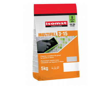 Isomat Multifill 3-15 (30) Γκρι Τσιμέντου 5Kg Έγχρωμος, Τσιμεντοειδής Αρμόστοκος Πλακιδίων