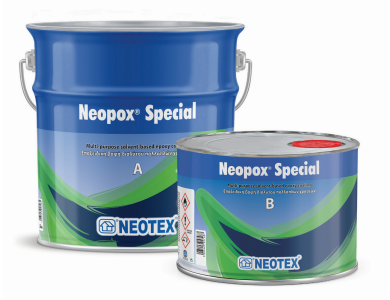 Neotex Neopox Special Κόκκινο (RAL3001) 1Kg (Α+Β) Εποξειδική Βαφή Διαλύτου Δύο Συστατικών για Εφαρμογές Δαπέδων