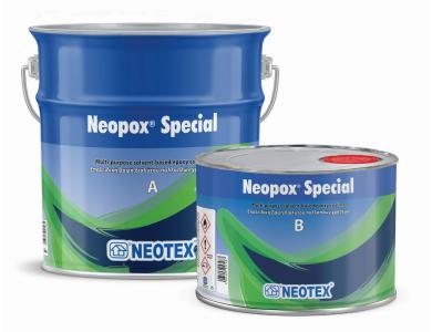 Neotex Neopox Special Κόκκινο (RAL3001) 5Kg (Α+Β) Εποξειδική Βαφή Διαλύτου Δύο Συστατικών για Εφαρμογές Δαπέδων